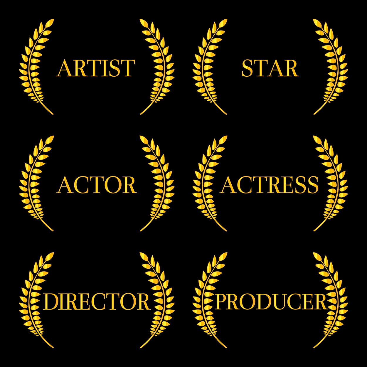 Film Stars Laurels 2