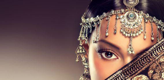 Eye of oriental woman.